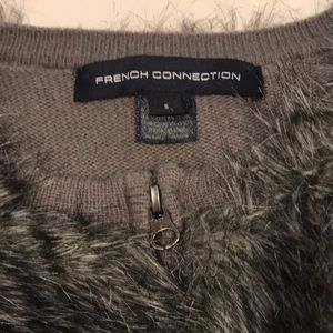 French Connection Jackets & Coats - French Connection Faux Fur Sweater Coat (Size S)